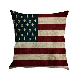 Super Soft Independence Day Linen Pillow Case Cover Home Cushion Simple Geometric Throw Pillowcase Pillow Covers Decoration