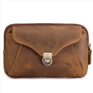 Fanny Waist Bag Men Genuine Leather Belt Bum Leg Hip Packs For Men Mini Multi Phone Box Wallet And Purse Outdoor Coin