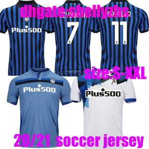 Thailandia 20 21 Atalanta BC Soccer Jerseys 2020 2021 Hom Mens L.Muriel Tarsz de Room Gosens Camicia da calcio Ilicic Mancini Away Uniform