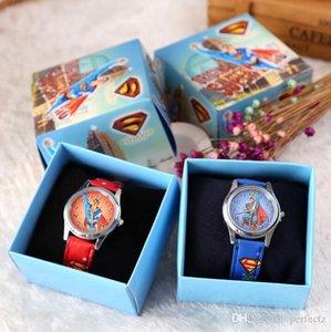 Cgjxs Бесплатная доставка 12 шт мультфильм Супер герой Супермен Дети Девочки Мальчики Дети Студенты кварцевые наручные часы очень популярны Have Подарочная коробка