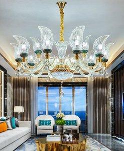 Fashionable light  led crystal chandelier living room lamp simple modern new high-end lamp arm luminous restaurant pendant lights