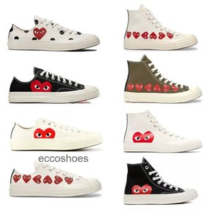 2019 Converse All Stars Shoes 1970 CDG Canvas Big eyes Hearts Beige PLAY Black white Conversion designer shoes sports casual Sneakers