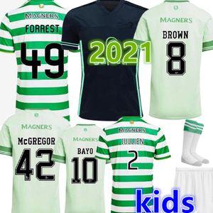 20 21 Celtic FC maglie calcio MCGREGOR GRIFFITHS 2020 2021 Klimala FORREST BROWN CHRISTIE EDOUARD BAYO casa Uomo Bambini Calcio Camicie 2020