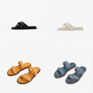 FashionDesigner Donne progettista sandali Rivet Marca piatto Pantofole Sandalo della ragazza ShoesSlides Lady Infradito Studded T06 # 833