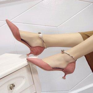 Горячие Сбывание Женщины Насосы лето Новые прибытия Женщины моды Sexy Элегантные тонкие высокие каблуки женщина Остроконечные Toe металлические украшения обувь