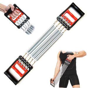 Forza portatile di Busto Expander Puller Sport Fitness Exercise Bands Esercizio resistenza elastica 5 Primavera Resistenza