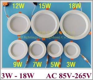 анти-туман утоплена LED потолка вниз света СИД светильник лампа 3W 5W 7W 9W 12W 15W 18W алюминий + ПММА AC85V-265V входной антизапотевающий CE