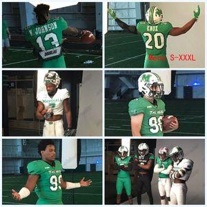 2020 Marshall Thundering Herd Verde novos uniformes Nazeeh Johnson Joel Lambiotte Zach Switzer Jamare Edwards NCAA College Football Jersey
