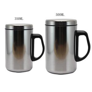 Dozzlor 350 / 500ml Paslanmaz Çelik Çift Duvar İzoleli Kupa Mug Su Şişesi Termos Kahve Mug Su Şişeleri