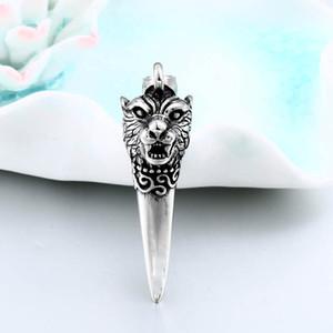 punk rock Wolf Fang Tooth Pendant Necklace Vintage Dragon Fashion Choker Man Viking Jewelry Animal Gift jewelry