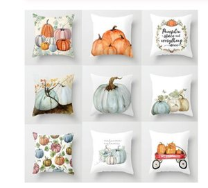 Pumpkins Cushion Cover Happy Halloween Pillow Covers Cartoon Home Decor Soft Peach Skin for Sofa Bed Decorative Cases 45x45cm