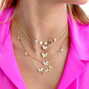 Timeless Wonder Glam Crystal Butterfly Chains Choker Necklace Women Jewelry Punk Designer Top Trendy Boho Ins Gothic Kpop 2467