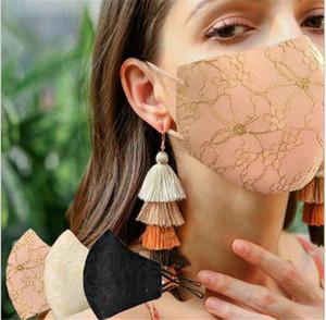 Маски для лица Мода кружева для женщин девушки Многоразовый моющийся Маски Elegent Лицевые маски партии Бич ВС Блок 3D Защитный Mouth Cover NEW LY907