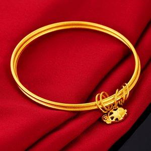 2020 nuovo arrivo buon auspicio di buona fortuna recente di tre strati Gold fish goccia braccialetto progetta Vietnam Sabbia Bracciali d'oro