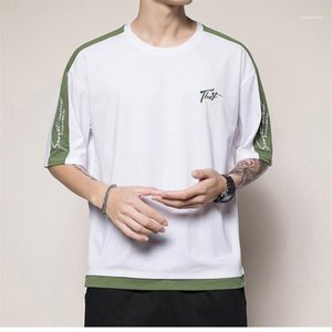 Letter Print Clothing Mens Casual Fashion Tops Mens Designer T Shirts Embroidery Panelled Tees Short Sleeve