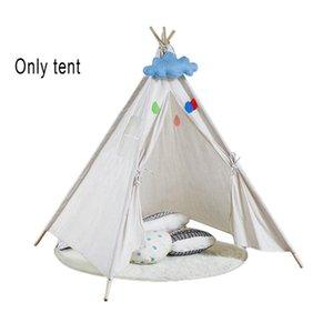 Tenda di stile dei bambini per i bambini rimovibile Gaming tenda Tung Legno Camera da letto al coperto Accessori Carino Castello