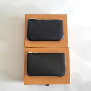 Frete grátis Designer oferta especial de 4 cores mulheres couro moeda saco chave zipper carteira, bolsa carteira carteira com certificado saco de caixa de pó