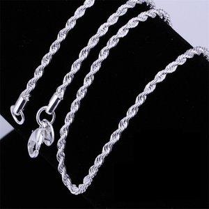 Le donne uomo Collana 2mm16,18,20,22,24 pollici torsione corda dei monili della catena Accesory