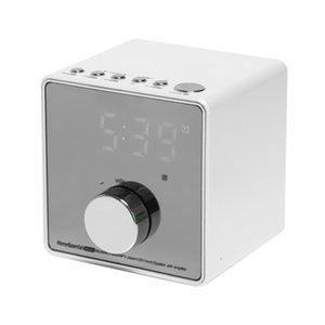 New-Multifunction Bluetooth Alarm Clock Speaker with Dual USB Interface Charging Audio LED Mirror Clock Music Display Desktop Cl