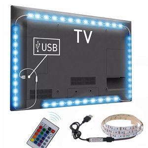 Hot 3 Sizes RGB LED Wireless Remote Control Neon Interior Light Lamp Strip Lights Car Decor