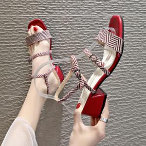 BJYL квадратный каблук высокий каблук сандалии женщин 2020 летняя обувь женщина Дикого Студенты Пряжка офиса обувь женская B761