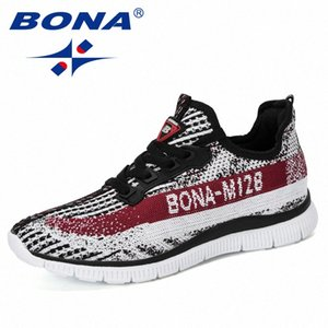 BONA New Style Sneakers Men Autumn Baskets Breathable Casual Shoes Man Sapato Masculino Krasovki Zapatos De Hombre Trendy daqp#