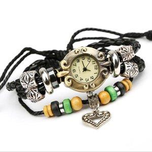 Hip Hop Punk Cowhide leather Quartz Watch bracelet Men Women Cowboy Wristwatch Women Electronic Watches Retro Strap 2021 Gift