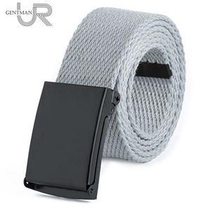 Unisex Waist Belt Men Women Solid Color Canvas Strap High Quality Twill Cotton Jeans Belts