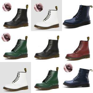 LZJ 2020 Inverno donne metà polpaccio Boots Nuovo stile punta rotonda Scarpe solide Laies Fahsion arco Casual Shoes Side Zipper Flock Women # 983