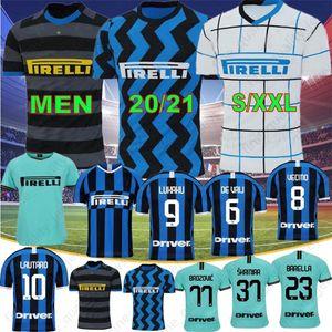 20 21 Thai ALEXIS LUKAKU LAUTARO SKRINIAR Inter 2020 2021 Milan Soccer Jerseys ERIKSEN GODIN BARELLA Jerseys Football Men Kids Kits