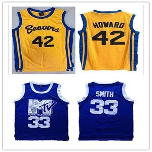 Personalizza Scott Howard Jersyes Beacon Beavers 42 American Film Version State Basket Basket Jersey USA University Jerseys Man Youth Youth S-5XL