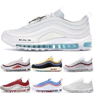 2018 novo chaussures nike air max 97 se summer vibes tênis de corrida para mulheres dos homens, moda 97 97 s athletic formadores sapatilhas aq4137-101 eur 36-46