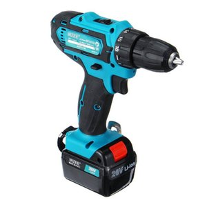 Newest 35Nm Electric Screwdriver Cordless Drill Drill LED Light Driver 26V Max DC Li-Ion Battery 2-Speed Tools