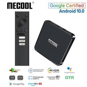 Mecool KM1 ATV certificato di Google Android TV Box 10 Amlogic S905X3 Primo Video di Smart Android TV 4K doppio Wifi 2T2R Set Top Box