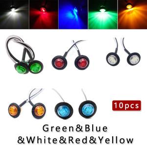 10pcs DC12V LED Round Trailer Side Lamp Indicator Clearance Light Waterproof