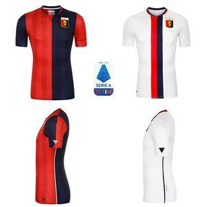 Gênes CFC Soccer Jerseys Home 20 21 Maglie da Calcio Gumus Kouame Romero Sturaro S. Pinamonti Shirts Football Taille: S-XXL