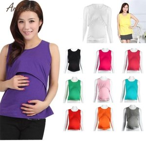 DHgate Fashion Tanks 11 Colors Women Pregnant Maternity Casual Solid Clothes Tops Breastfeeding Hot drop shipped OB19ES4Z Deals