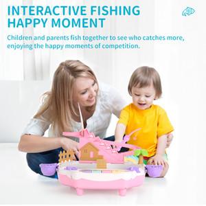 Nuevos productos de interacción entre padres e hijos los niños juguete de los niños que la pesca eléctrica muchachos 1-2-3-4-1 / 2 años de edad y niñas conjunto de los pescados 6 rompecabezas magnético