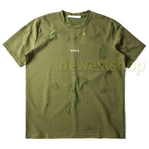 2020 Nuova estate Europa Parigi Mens Letters Stampa Tshirt Fashion Men Donne Luxury Green T-shirt Designer T-shirt T-shirt in cotone T-Top