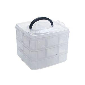 Transparent Portable Large Jewelry Organizer Storage Box Container Case Display Jewerly Storage Box