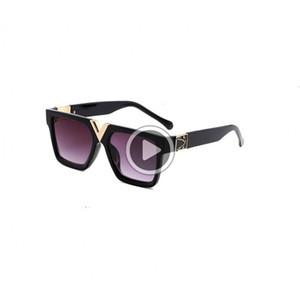 MILLIONAIRE Sunglasses full frame occhiali da sole DENER d'epoca per gli uomini vendere oro lucido Logoo calda placcati oro Top occhiali da sole