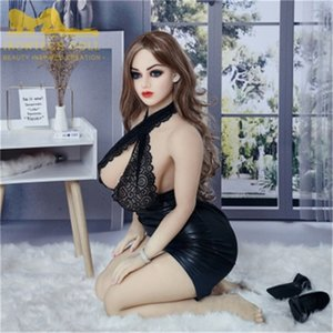 158cm Alisa Sexy Lady Naturgetreue Sex-Puppe Real Love Sex für Männer Puppe Skelett Realistische Brust Love Doll