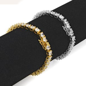 18K Gold Plated Cubic Zirconia Tennis Chain Barefoot Ankle Bracelet Full Diamond Anklet Foot Jewelry Gift for Men & Women for Sale Wholesale