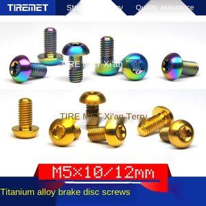 freno de aleación de Rrixr aleación de titanio disco de freno de color tornillo M5x10 / 12 ciruela disco cabeza T25 de color titanio tornillo ánodo
