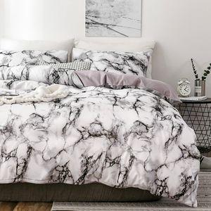 Мрамор 3D Pattern Дизайнерские Постельные принадлежности и кровать Наборы Твин Double Queen Одеяло Пододеяльник Утешитель Beding Set Luxury Beddingoutlet