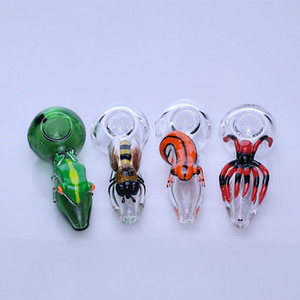 3D Insect Muster Glashandrohr mit Dab rig Tabakrauchrohre Werkzeug Pfeife Glasrohr