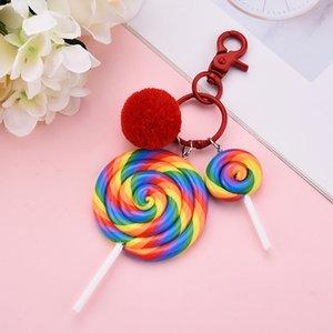 Neue Art-Schlüsselanhänger Lollipop Schlüsselanhänger Geschenke für Frauen Llaveros Mujer Auto Tasche Zubehör Keyring Halter Schmuck Zubehör EH364