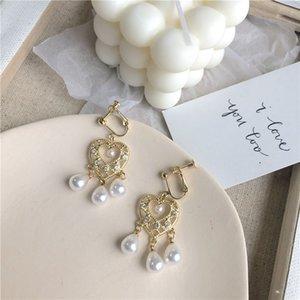 Hot Sale Wedding Bride Alloy Earrings Vintage Pearl Love Women Stud High Quality Party Ladies Eardop Fashion Jewelry