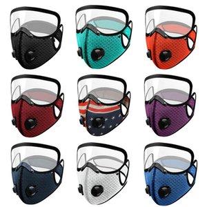 Drapeau du vélo Masque 2 en 1 Full Face Protection du visage Masque anti-poussière respirant la respiration Valve visage Mode Masque DHL Livraison gratuite DHD954