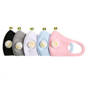 Yıkanabilir Yeniden kullanılabilir Buz İpek Pamuk Moda Tasarımcısı Maskeler FWE1457 Valve Anti Dust Bisiklet Koruyucu Maskeler Nefes ile Unisex Yüz Maskesi